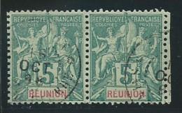 REUNION: Obl., N° YT 35 X 2, Paire, TB - Reunion Island (1852-1975)