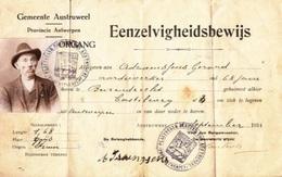 DOCUMENT / EENZELVIGHEIDSBEWIJS / BELGIQUE / ANVERS / PAPIERS - Belgique