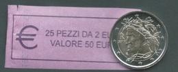 ITALIA  2017 - ROLL  2 EURO  DANTE  ORIGINALE ZECCA - DATA VISIBILE - FDC - Rotolini