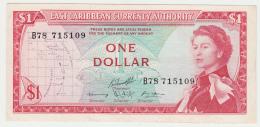 East Caribbean States 1 Dollar 1965 VF++ CRISP Banknote P 13g 13 G - Ostkaribik