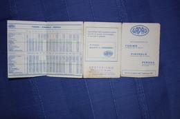 AUTOLINEE SAPAV - ORARIO TORINO-PINEROLO-PERPSA - 1977 - Europe