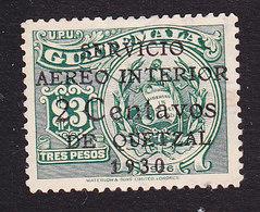 Guatemala, Scott #C9, Used, Seal Surcharged, Issued 1930 - Guatemala