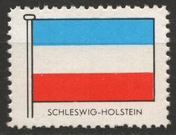 Schleswig-Holstein  Deutschland - FLAG FLAGS / Cinderella Label Vignette - Germany Ed. 1950's - Schleswig-Holstein