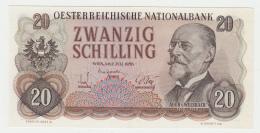 Austria 20 Schilling 1956 AUNC Pick 136 - Autriche
