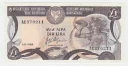 CYPRUS 1 POUND 1989 UNC Pick 53a 53 A - Chypre