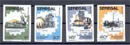 SENEGAL TRANSPORT/INDUSTRY IMPERF SET 1988 - Sénégal (1960-...)