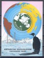 MONGOLIA, SOUVENIR SHEET, ANTARCTIC EXPLORATION, 1980 - Philatélie Polaire