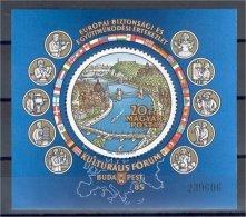 HUNGARY. CONFERENCE FOR EUROPEAN COLLABORATION SOUVENIR SHEET 1985, MNH ** - Blocs-feuillets