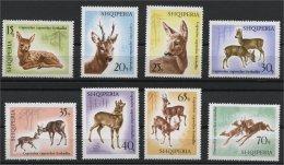ALBANIA, ANIMALS / DEERS MNH SET 1967 - Albanie