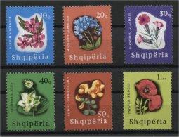 ALBANIA, FLOWERS SET 1965, MNH - Albanie