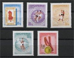 ALBANIA, BASKETBALL MNH SET 1965 - Albanie