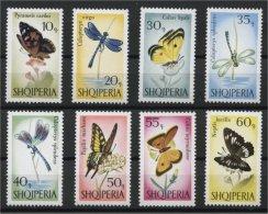 ALBANIA, BUTTERFLIES, MNH SET 1966 - Albanie
