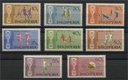ALBANIA, SOCCER / FOOTBALL, MNH SET 1966 - Albanie