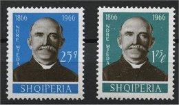 ALBANIA, 100 ANNIV. NDRE MJEDA, MNH SET 1966 - Albanie
