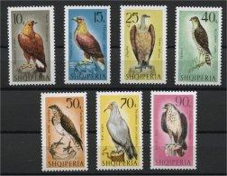 ALBANIA, BIRDS (Falconiformes) 1966, MNH SET - Albanie
