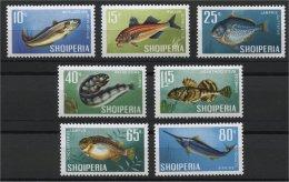 ALBANIA, FISHS MNH SET 1967 - Albanie