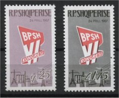 ALBANIA, CONGRES Albanian Worker Association, MNH SET 1967 - Albanie