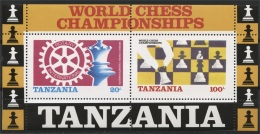 TANZANIA SOUVENIR SHEET CHESS MNH - Echecs