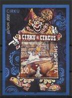 ALBANIA, EUROPA 2002 Circus, MINT NEVER HINGED SOUVENIR SHEET - Albanie
