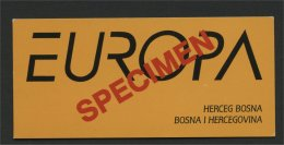 BOSNIA, CROAT REPUBLIC EUROPA 1996 BOOKLET SPECIMEN MNH - RARE - Bosnie-Herzegovine