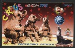 BOSNIA, SERB REPUBLIC EUROPA CIRCUS 2002 MNH - Bosnie-Herzegovine