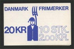 DENMARK, BOOKLET DEFINITIVES EUROPA / AGRICULTURE / SLAVERY 1992 - Carnets