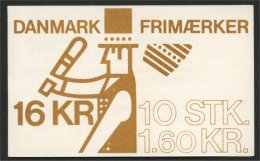 DENMARK, BOOKLET DEFINITIVES EUROPA / FOLKLORE HORSE  1981 - Carnets