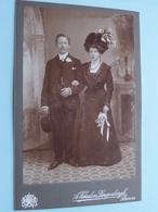KOPPEL Man / Vrouw ( Familie / Famille ) ( CABINET FOTO A. VANDEN LANGENBERGH Anvers / Zie Foto's Voor Détail ) ! - Guerre, Militaire