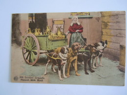 Laitière Flamande Flemish Milk Maid Chens Honden Attelage Plooi Pli Gelopen Circulée 1939 Edit Albert - Street Merchants
