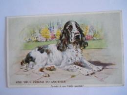 Illustrateur M. Gear Chien Hond Cocker? Gelopen Circulée 1936 Valentine's 'Gear' Postcards - Hunde