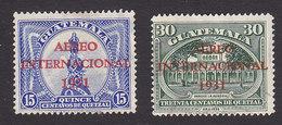 Guatemala, Scott #C15-C16, Used, Monument To Columbus And Aurora Park Overprinted, Issued 1931 - Guatemala
