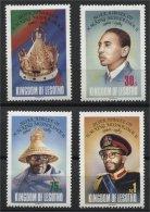 LESOTHO, 25 YEARS OF REIGN KING MOSHOESHOE 1985, MNH SET - Lesotho (1966-...)