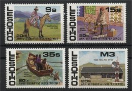 LESOTHO, 20th ANNIVERSARY OF INDENPENDENCE 1986, MNH SET - Lesotho (1966-...)