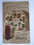 Au Bonheur Des Jeunes Maries Loterie Des Bébés  Rex 987 Circulée Gelopen - Bebes