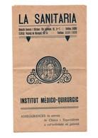 ADVERTISING SPAIN FOLLETO TRÍPTICO PUBLICITARIO PUBLICIDAD INSTITUTO MÉDICO QUIRÚRGICO LA SANITARIA BARCELONA CATALONIA - Publicidad