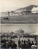 2 Cartes Photos - Naufrage - Principessa Iolanda - Principio Di Sbandamento - RIVA-TRIGOSO (Italie)  (106646) - Paquebots