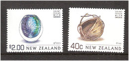 New Zealand 2002 Flax And Glass, Joint Issue With Sweden Mi 1985 And 1991 MNH(**) - Ungebraucht