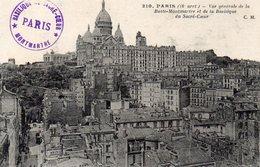 CPA PARIS - VUE GENERALE DE LA BUTTE MONTMARTRE ET DE LA BASILIQUE DU SACRE COEUR - District 18