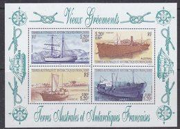 TAAF 2001 Vieux Gréements / Ships M/s ** Mnh (39089A) - Blokken & Velletjes