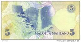 LESOTHO P. 10a 5 M 1989 UNC - Lesoto