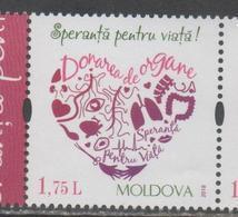 MOLDOVA, 2018, MNH, ORGAN DONORS, 1v - Health