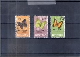 Papillons - Tanzanie Serv.24/26 - Obl/gest/used - (à Voir) - Papillons