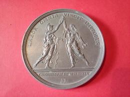 """SUPERBE MÉDAILLE DIAMÈTRE 8 CM  COLBERT Par BERTONNIER 1619/1683 """" LABOR OMNIA VINCIT IMPROBUS """" EN ETAIN 172 Gr. - Royal / Of Nobility"""