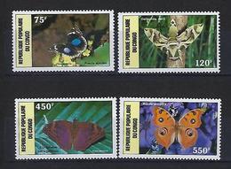 "Congo Aerien YT 371 à 374 (PA) "" Papillons "" 1987 Neuf** - Congo - Brazzaville"
