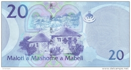 LESOTHO P. 22b 20 M 2013 UNC - Lesotho