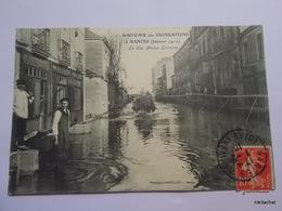NANTES-Inondations Janvier 1910-La Rue Alsace Lorraine - Nantes