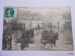 NANTES-CHANTENAY-Les Inondations,décembre 1910-Entrée De La Rue Bougainville - Nantes