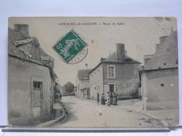 72 - CHEMIRE LE GAUDIN - ROUTE DE SABLE - ANIMEE - 1909 - France