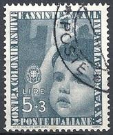 Italia, 1937 Colonie Estive £5.00+3.00 Grigio # Michel 569 - Scott 376 - Sassone 415 - USATO - Usati