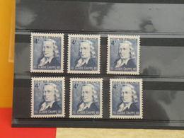 Lot 6 Timbres Neuf 1944 > Série N°619 - 6 Val - Y&T - Sesquincentenaire Du Télégraphe Optique Claude Chappe - Coté 1,80€ - France